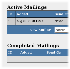 Pending Mailings are now named Active Mailings