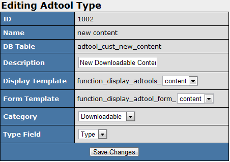 Configuring Your New Downloadable Content Adtool