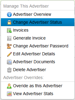 Change Advertiser Status Icon