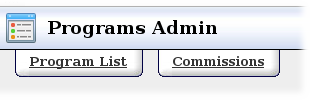 The Commissions Admin Tab
