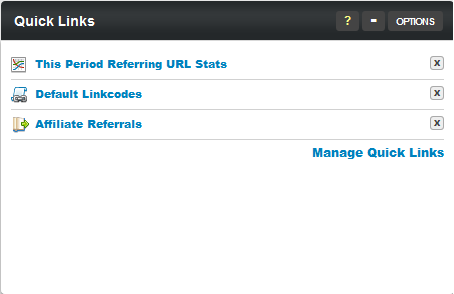 The NATS For Networks Quick Links Dashboard Module