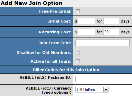 Creating a New Join Option