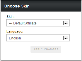 Choosing an Affiliate Skin and Language