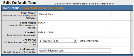 Editing Your StreaMate Tour