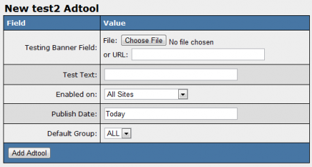 Adding New Custom Adtools in NATS