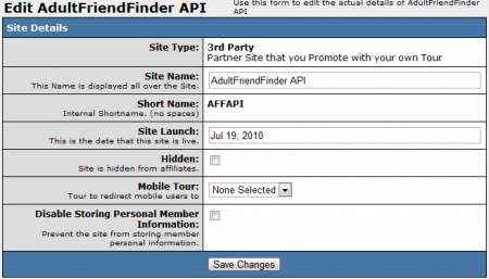 Editing AdultFriendFinderAPI