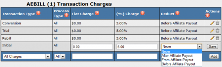 Biller Transaction Charges