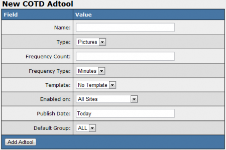 Adding a New COTD Adtool