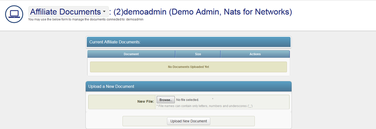 Uploading Documents in NATS For Networks