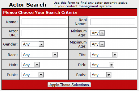 The CARMA Actor Search