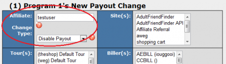 Disabling an In-House Account's Payouts