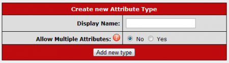 Creating a New Attribute Type in CARMA