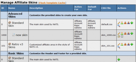 The new NATS4 skins and templates admin