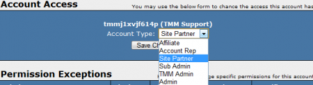 Affiliates Admin - Account Access