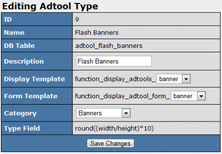 Editing Your New Adtool Type in NATS