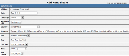 Adding a Manual Sale in NATS 4