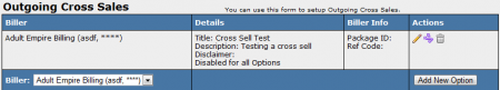 Configuring Outgoing Cross Sales