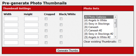 Generating New Photo Thumbnails in CARMA