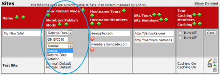 Setting Your Publish Modes in CARMA