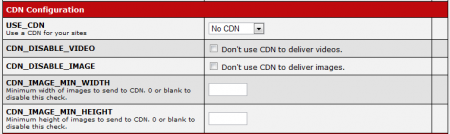 CARMA CDN Configuration Settings