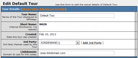 Editing Your XOnDemand Tour
