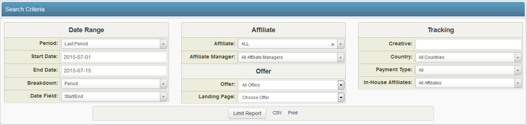 Actual Affiliate Payments Admin