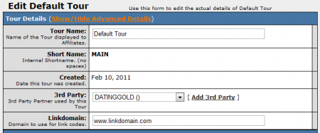 Editing Your DatingGold Tour