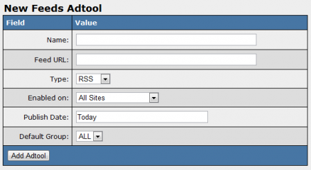 Adding a New Feed Adtool in NATS