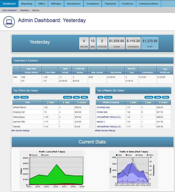 NATS For Networks New Admin Dashboard Graphs